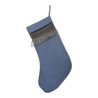 Metallic Fringe Christmas Stocking