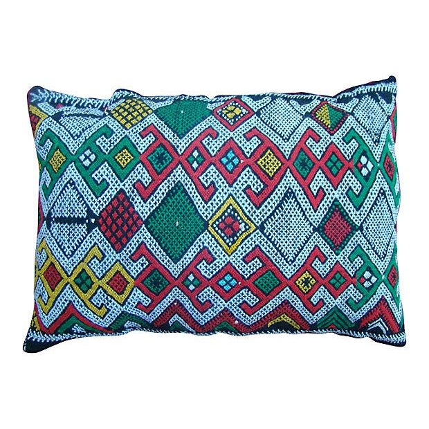 Image of Green And Pink Moroccan Sham