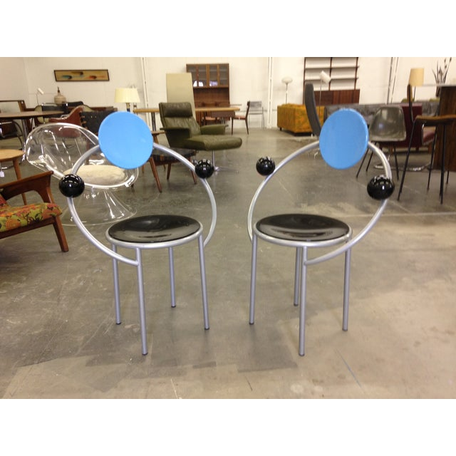 Michele De Lucchi Memphis First Chairs - Pair - Image 2 of 9