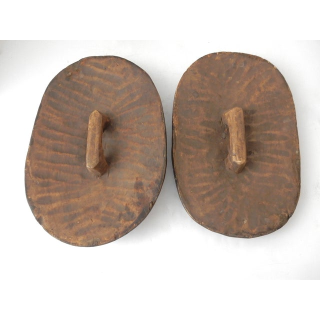 Songye Shield Wall Hangings - Pair - Image 7 of 8