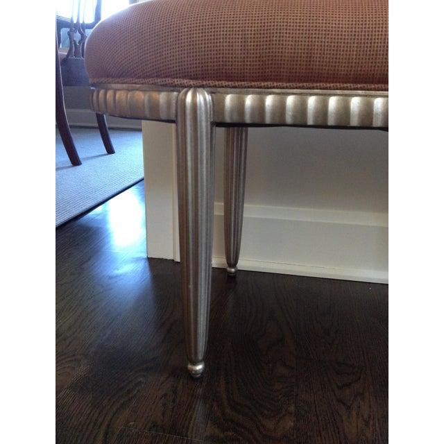 Interior Crafts Silver Leaf Upholstered Bench - Image 9 of 11