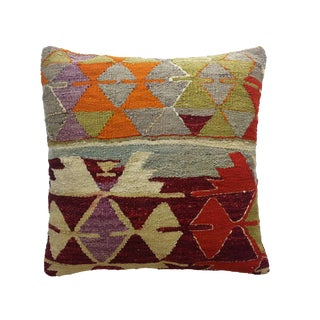 Geometric Patterned Kilim Pillow
