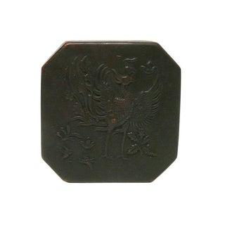 Chinese Handmade Metal Bronze Color Trinket Box