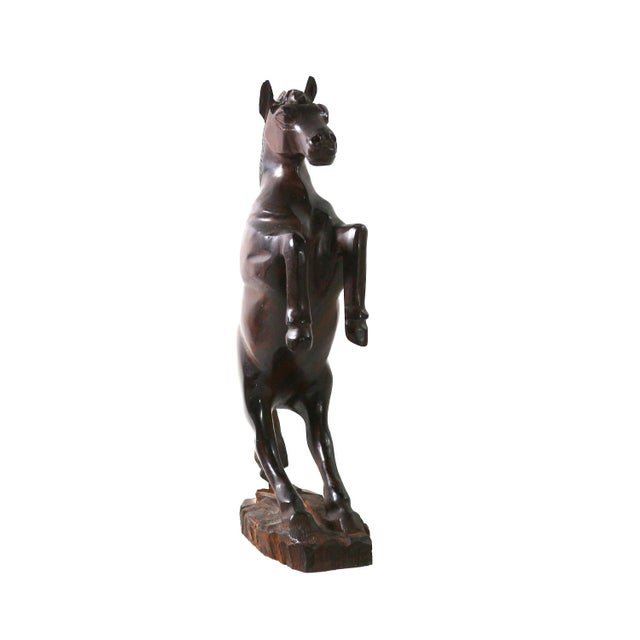 Image of Mid-Century Horse Hand Carved Art