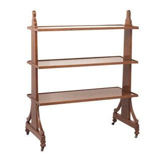 English Walnut Server / Book Shelves