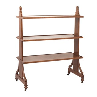 English Walnut Server / Book Shelves