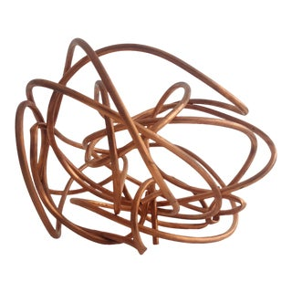 "Original Copper Coil ""Chaos"" Twisted Knot Sculpture"