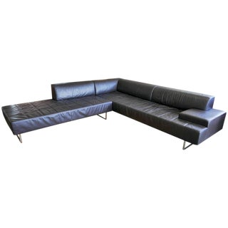Modern Poltrona Frau Italian Leather Sectional