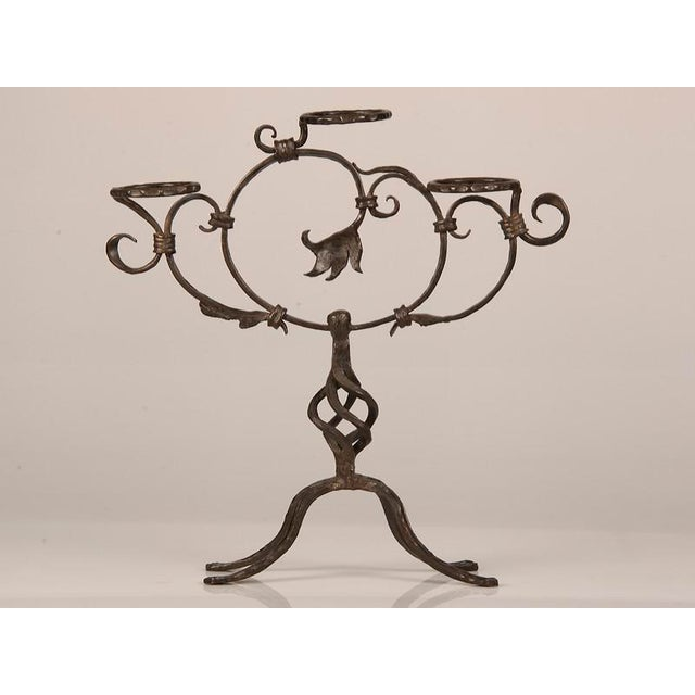 Antique French Hand-Forged Iron Plant Stand circa 1870 - Image 3 of 9