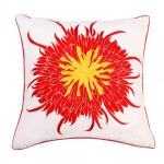 """Image of Red Bloom Pillow - 20"""" x 20"""""""
