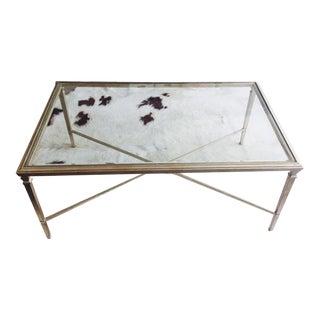Ethan Allen Heron Glass & Steel Coffee Table