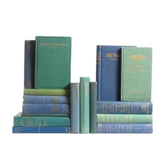 Blue & Teal Poetry Books - Set of 16