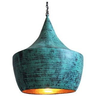 Hand Hammered Copper Pendant Light
