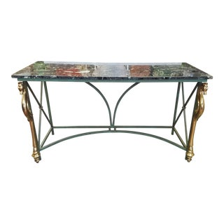 Art Deco Neoclassic Marble Table