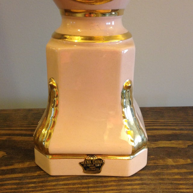 Vintage Blush Colored Deena China Lamp - Image 6 of 11
