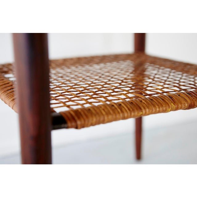 Rosewood and Cane Side Table by Poul Jensen for Selig - Image 8 of 9