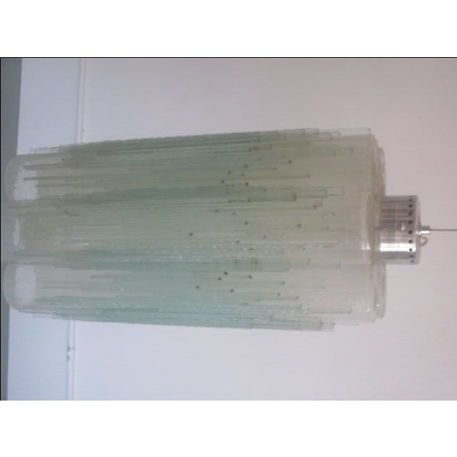 Image of Rare Murano Glass Columnar Chandelier by Venini