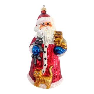 Christopher Radko Santa with Cats Ornament