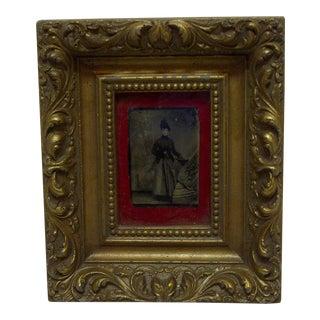 "Vintage Framed Black & White Photograph ""Bella Boyd - Confederate Spy"", 1860"