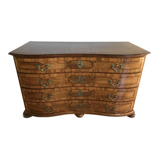 Antique Biedermeier Burl Chest of Drawers