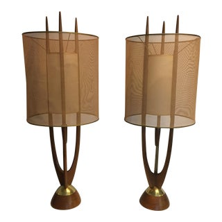 Modeline Mid Century Table Lamps - A Pair