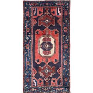"Vintage Persian Zanjan Rug- 4'1"" x 8'"