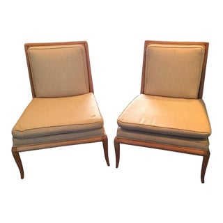 T.H. Robsjohn-Gibbings Slipper Chairs- A Pair
