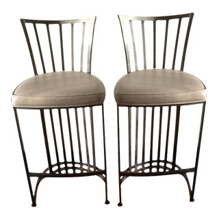 Shaver Howard Mid-Century Steel Stools - A Pair