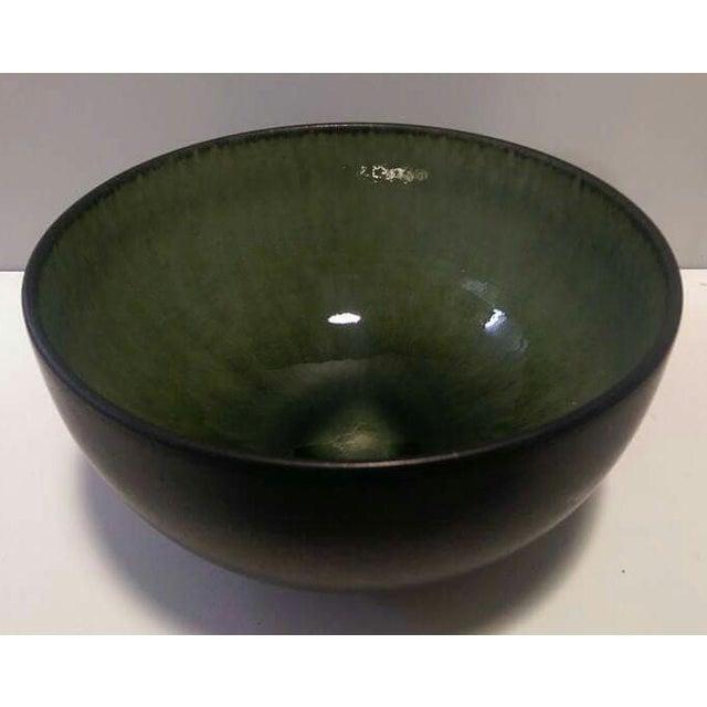 Image of Jars France Samoa Vert Green Glazed Pottery Bowl