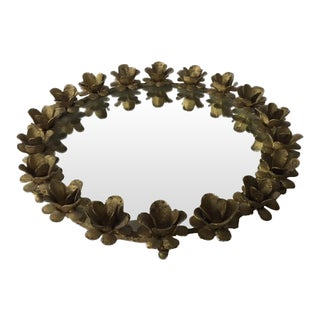 Gilded and Mirrored Flower Tray
