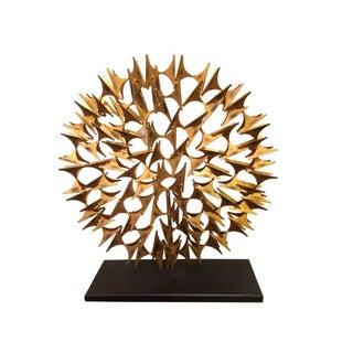 Mid-Century Style Round Gold Modern Sculpture