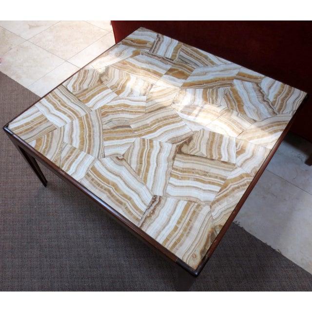Ed Wormley Dunbar Travertine Coffee Table - Image 8 of 9