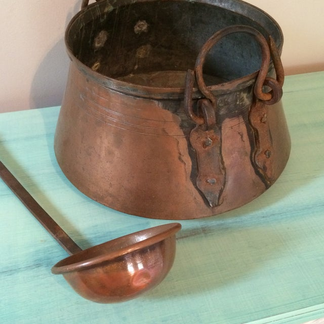Copper Stew Pot with Ladel - Image 7 of 11