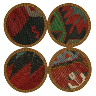 Turkish Kilim Coasters, Diyarbakır - Set of 4