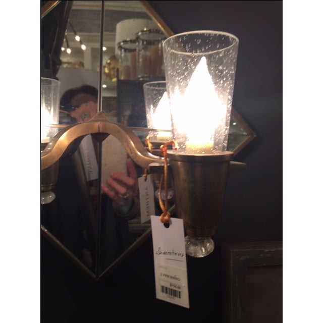 Double Arm Mirrored Sconce - New - Image 9 of 9