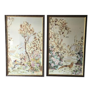 Chelsea House Silk Painted Panels - A Pair