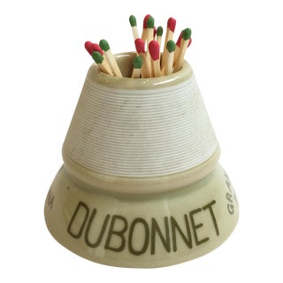 French Parisian Cafe Dubonnet Match Striker/Holder