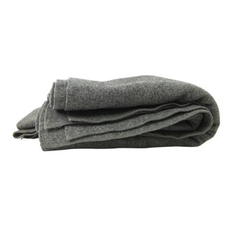 Scandinavian Wool Blanket in Dark Gray