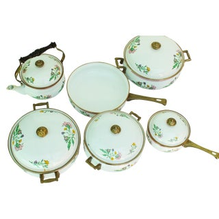 Porcelain Enamel Cookware - Set of 6