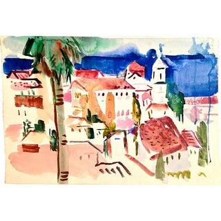"""Watercolor - Mediterranean View Lisbeth """"Bet"""" Reed"""