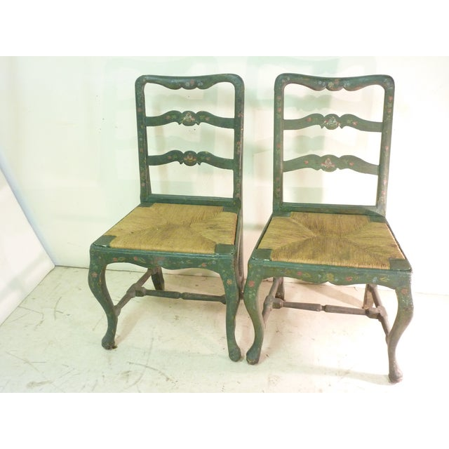 18th C. French Painted Chairs - A Pair - Image 2 of 6