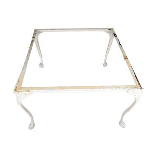 Cast Aluminum Claw Footed Coffee Table