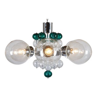 Large Chandelier with Hand Blown Ball Lights by Kamenicky Senov, 1970s