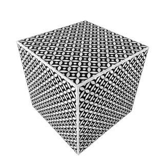 Bone Inlay Geometrical Side Table