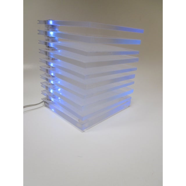Lucite Plastic Stacking Mood Lamp Light - Image 2 of 9