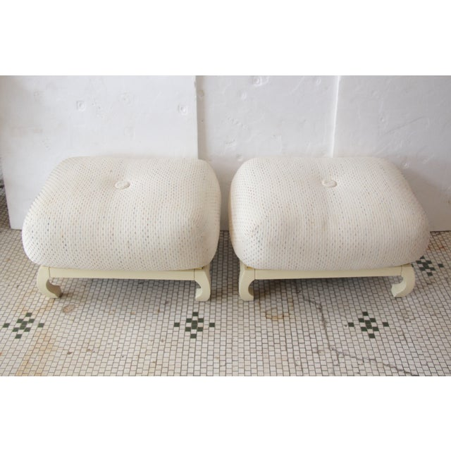 Asian James Mont-Style Poufs - A Pair - Image 3 of 5