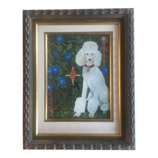 Judy Henn White Standard Poodle Print