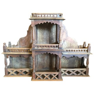 Vintage Hand-Carved Indian Shelf