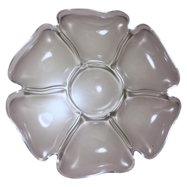 Vintage Lucite Flower Tray - Image 1 of 6
