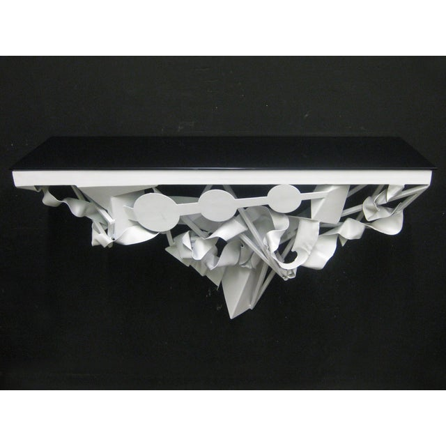 Wall Mounted Console in White Lacquer - Image 2 of 5